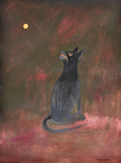 Alfonso Barrera, 'Coyote Mirando la Luna', 2020