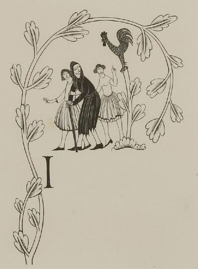 Eric Gill, 'The Nun's Priest's Tale', 1934