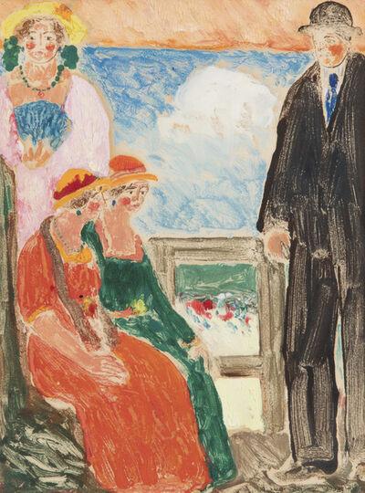 Abraham Walkowitz, 'Figures on a Balcony', 1908