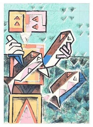 Ibrahim Kodra, 'Fish Seller', 1975