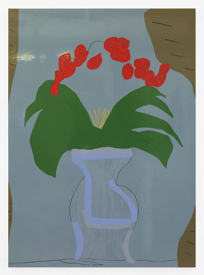 Gary Hume, 'Vase with Flowers', 2019