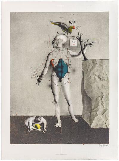 Paul Wunderlich, 'Selbst als Adam mit Anton und Adler', 1974
