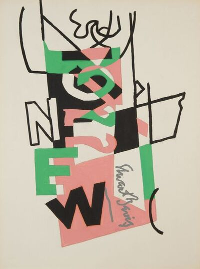 Stuart Davis, 'Study for 'Combination Concrete' No. 2', 1956