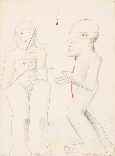 Horst Antes, 'Untitled (Man and Woman)', 1974