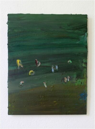 Norbert Prangenberg, 'Robinson (green with letters)', 2010