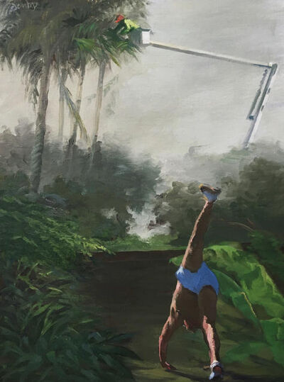 Jillian Denby, 'Figure Exercising with Palm Trimmer', 2020