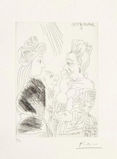 Pablo Picasso, 'La Bonne-aventure avec un curieux simiesque', 1970