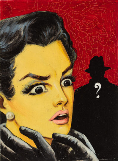'Untitled (Surprised woman with question mark man', c. 1960-75