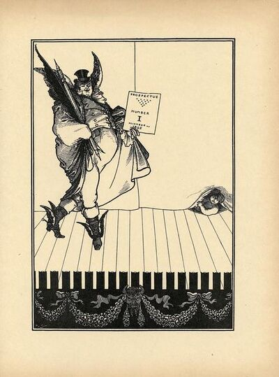 Aubrey Beardsley, 'Second design for the 1895 prospectus for The Savoy, printed in The Later Work of Aubrey Beardsley', ca. 1901
