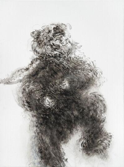 Maggi Hambling, 'Young dancing bear', 2019