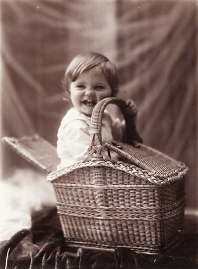 Léonard Misonne, 'One of the Photographer's Sons and a Picnic Basket', 1890s