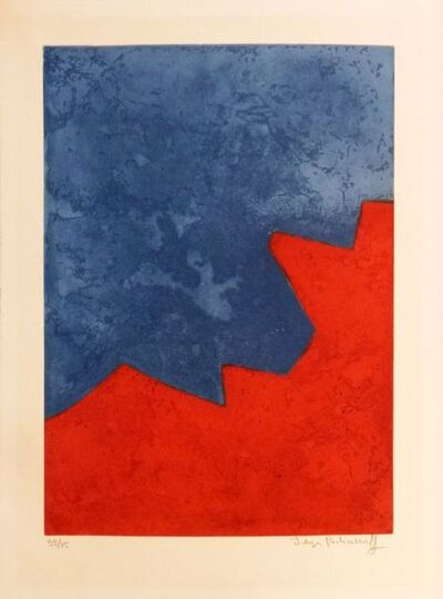 Serge Poliakoff, 'Composition Red and blue n°XXXII', 1967