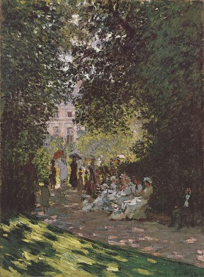 Claude Monet, 'Parisians Enjoying the Parc Monceau (No Text)', 1987