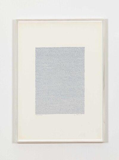 Irma Blank, 'Eigenschriften, Pagina A-32', 1970