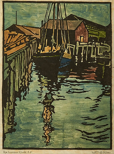 William S. Rice, 'The Lumber Dock S.F., California', ca. 1917