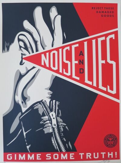 Shepard Fairey, 'Noise and lies Red', 2018