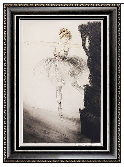 Louis Icart, 'Louis Icart Original ETCHING Signed Ballerina on Point Color Artwork Windmill', 1925