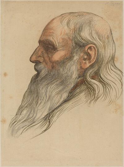 Alphonse Legros, 'Study of a Man's Head with a Full Beard'