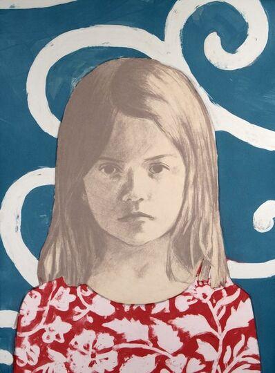 Claerwen James, 'Girl 1, Red, White, Blue', 2010
