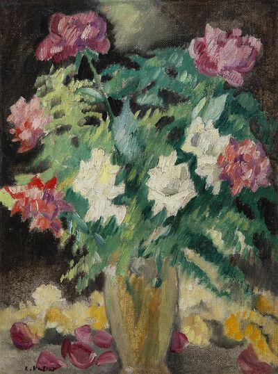 Louis Valtat, 'Vase cristal, roses', 1931
