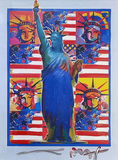Peter Max, 'GOD BLESS AMERICA - WITH FIVE LIBERTIES', 2001