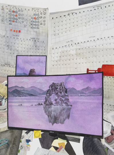 John Ziqiang Wu, 'The Quiet Landscape View from Claudia's Desk', 2020