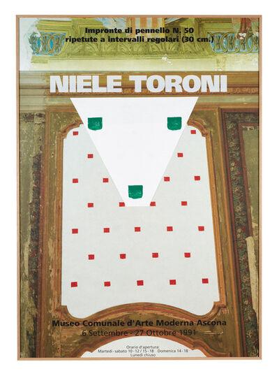 """Niele Toroni, '""""Quand les empreintes de pinceau n° 50 s'affichent sur leur affiche""""', 2015"""