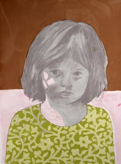 Claerwen James, 'Girl 4, Brown, Green', 2010