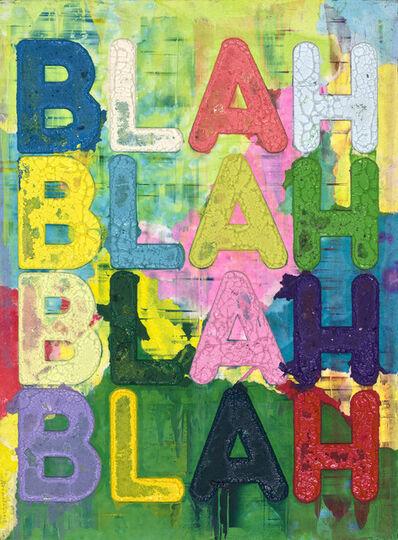 Mel Bochner, 'BLAH', 2017