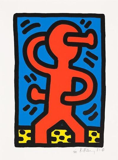Keith Haring, 'Untitled, S Man', 1987