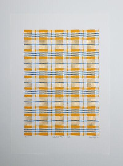 Layo Bright, 'Checkered: Blue on Yellow', 2020
