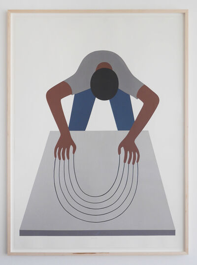 Geoff McFetridge, 'Bend the Void (Guy Clawing)', 2016