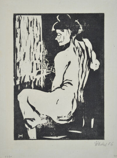 Erich Heckel, 'Seated Female Model', 1907