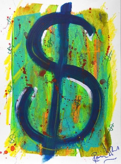Ronnie Wood, 'Dollar Sign in the Manner of Warhol 2', 2019