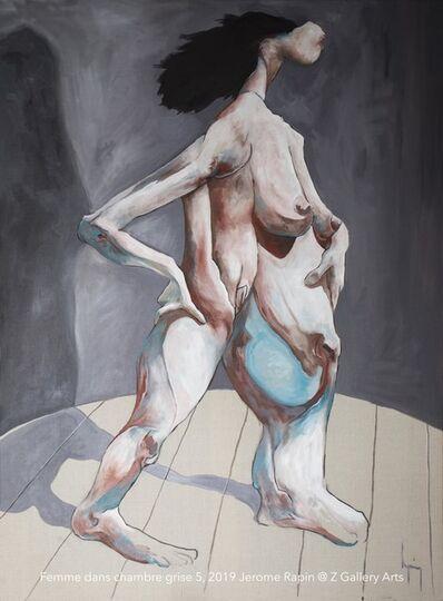 Jerome Rapin, 'Femme dans chambre grise 5', 2019