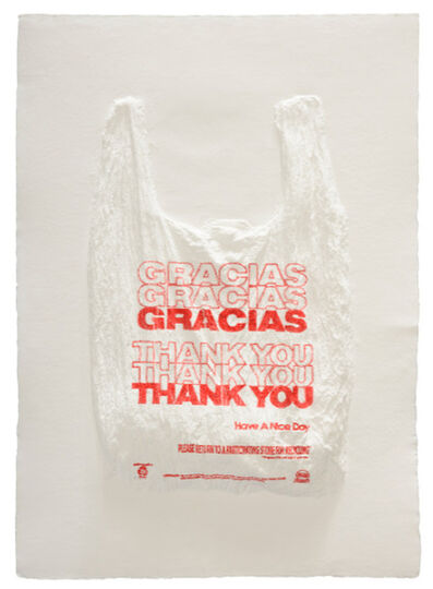 Analía Saban, 'GRACIAS GRACIAS GRACIAS THANK YOU THANK YOU THANK YOU Have a Nice Day Plastic Bag', 2016