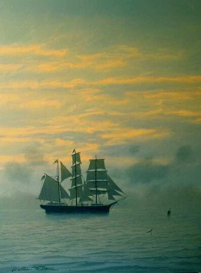 William R. Davis, 'Becalmed Bark and Incoming Fog', 2021