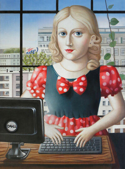 Amy Hill, 'Girl with Computer'