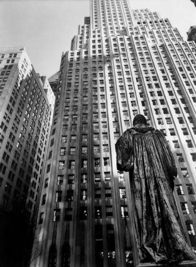 """Berenice Abbott, 'John Watts Statue from Trinity Churchyard (from the series """"Changing New York"""")', 1938"""