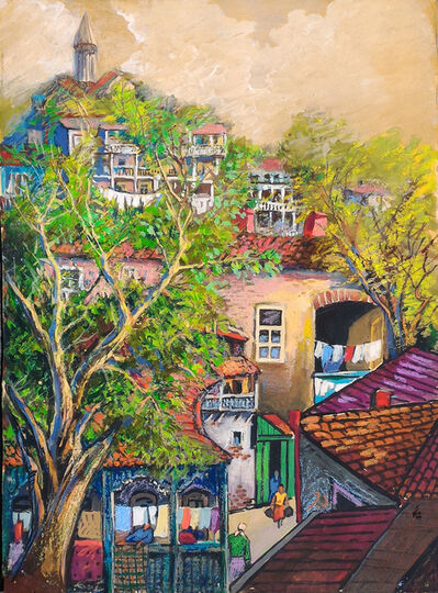 Elene Akhvlediani, 'The corner of Old Tbilisi', 1970