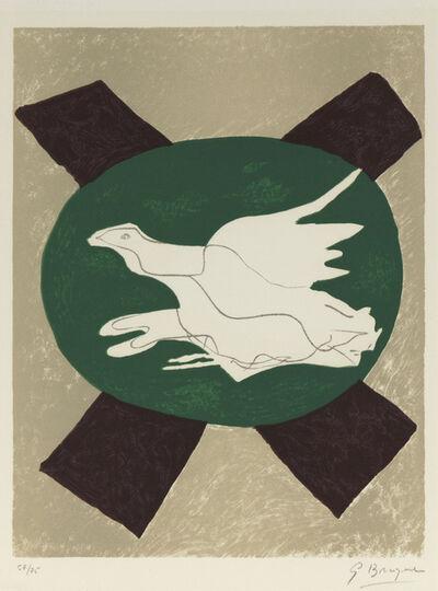 Georges Braque, 'Oiseau sur Fond de X', 1958