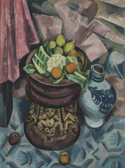 Max Pechstein, 'Still Life in Grey', 1913