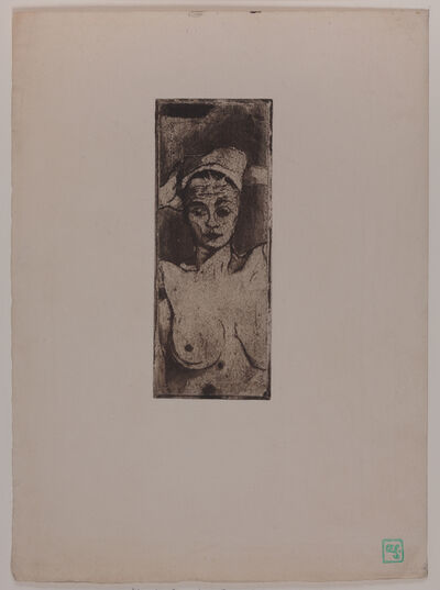 Armand Séguin, 'Nude with hands behind her head (vertical)', ca. 1894