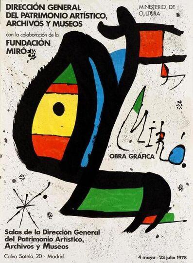 Joan Miró, 'Miro. Obra grafica', 1978