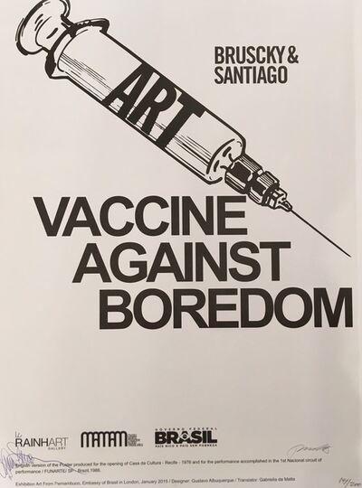 Paulo Bruscky, 'VACCINE AGAINST BOREDOM', 2015