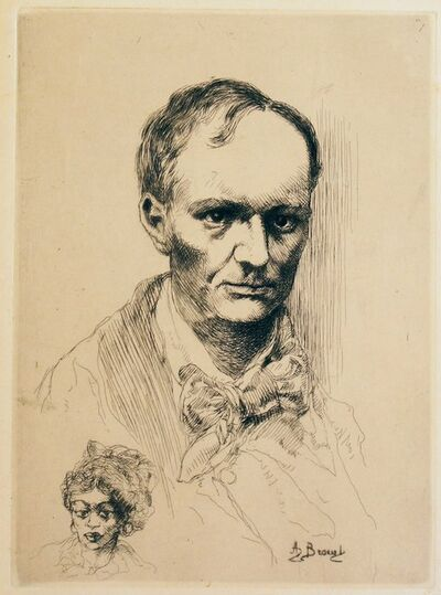 Auguste Brouet, 'Portrait de Baudelaire (Portrait of Charles Baudelaire)', Not Available (Beginning of 20th century)