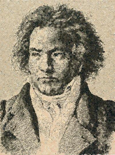 Vik Muniz, 'Beethoven (Pictures of Magazines)', 2006
