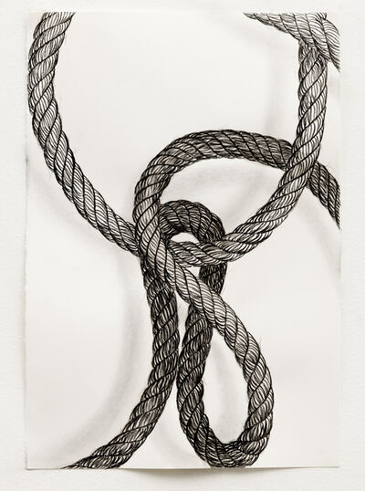 Claudia Parducci, 'Rope Drawing, Day 18', 2019