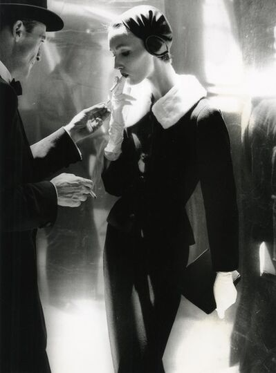 Lillian Bassman, 'By Night, Shining Wool And Towering Heel, Suite By Handmacher, Evelyn Tripp, New York, Harper's Bazaar', 1954