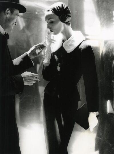 Lillian Bassman, 'By Night, Shining Wool And Towering Heel, Suite By Handmacher, Evelyn Tripp, New York, Harper's Bazaar', 1954